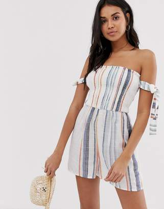 6976ca92af Bardot Influence striped beach playsuit