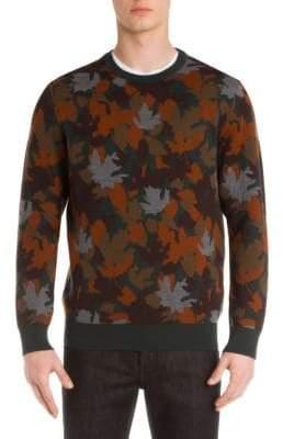 Ermenegildo Zegna Autumn Leaves Wool Blend Sweater