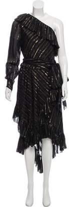 Philosophy di Lorenzo Serafini Silk One-Shoulder Dress