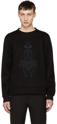Fendi Black Embroidered Super Bugs Sweatshirt
