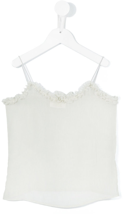 Max & Lola frilled strap top