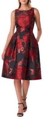 Tahari Arthur S. Levine Sleeveless Jacquard Fit-&-Flare Dress