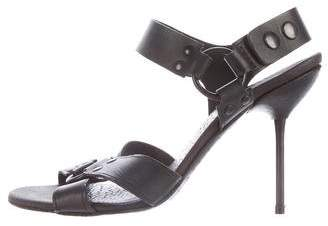 Pedro Garcia Leather Crossover Sandals