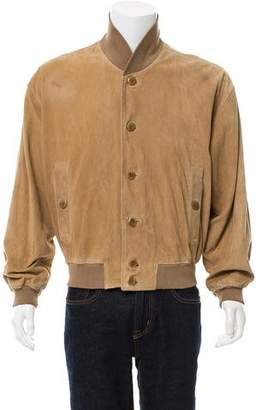 Giorgio Armani Leather Button-Up Jacket