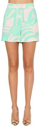 Emilio Pucci Printed Stretch Rayon Cady Shorts