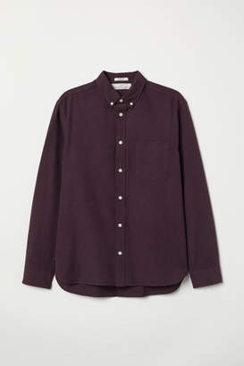H&M Regular Fit Oxford Shirt - Purple