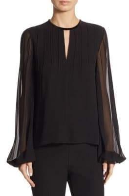 Elizabeth and James Dante Pintuck Silk Blouse