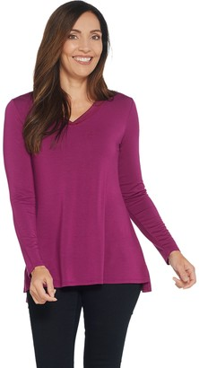 Halston H By H by Essentials V-Neck Long-Sleeve Tunic