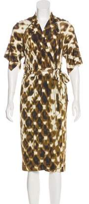 Just Cavalli Wrap Midi Dress