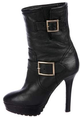 Jimmy Choo Leather Platform Boots