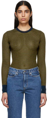 Rag & Bone Blue and Tan Raina Sweater