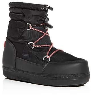 Hunter Women's Original Short Quilted Waterproof Platform Snow Boots