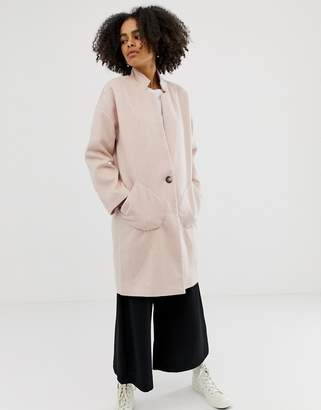 NATIVE YOUTH Wool Blend Cocoon Coat