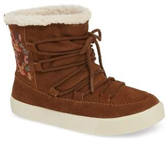 Toms Alpine Faux Fur Lined Bootie (Women)