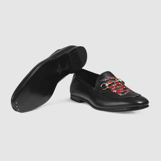 Gucci Leather loafer with Kingsnake
