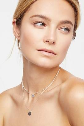 Marida Jewelry Rope Chain Double Coin Necklace