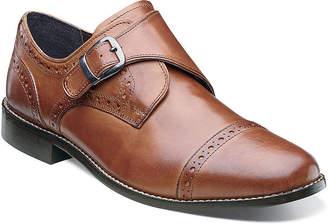 Nunn Bush Newton Mens Monk-Strap Cap-Toe Leather Dress Shoes