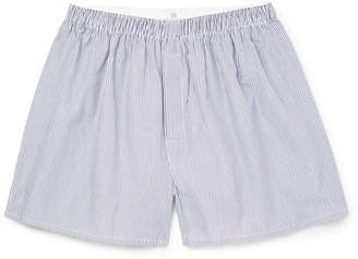 Sunspel Striped Cotton Boxer Shorts