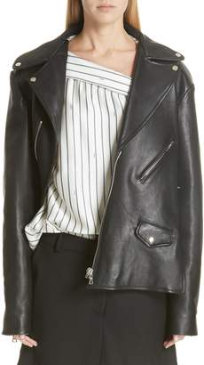Monse Twisted Leather Biker Jacket