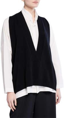 eskandar Deep-V Cashmere Vest