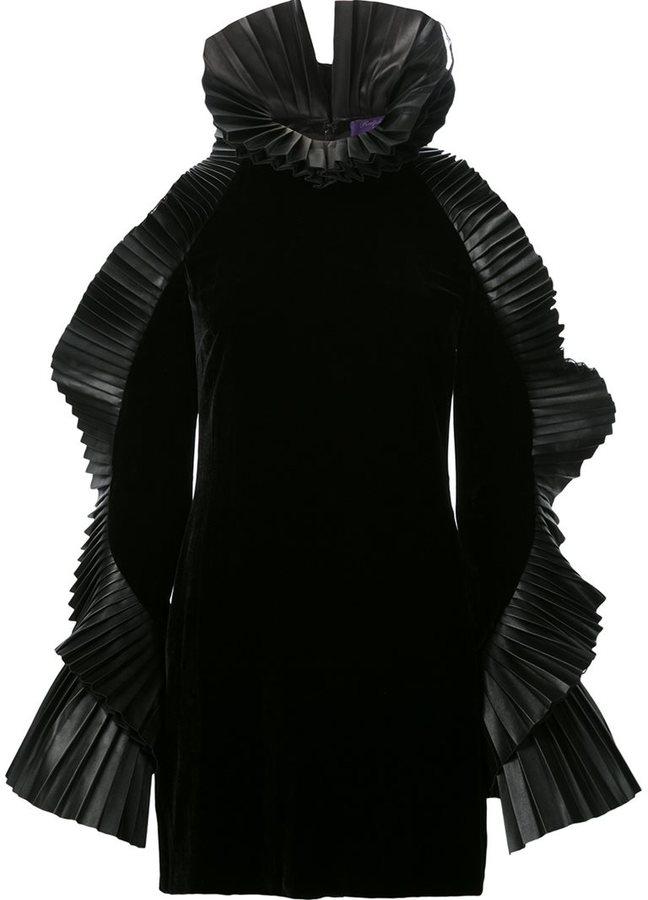 Ralph Lauren ruffled sleeve mini dress