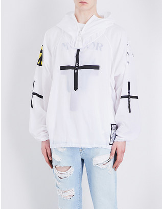 Off-White C/O Virgil Abloh Off-White x Boys Noize shell anorak $620 thestylecure.com