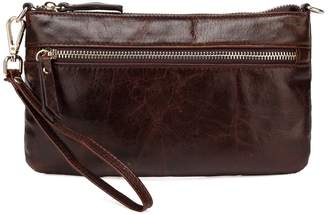 Vicenzo Leather Maci Distressed Leather Crossbody Clutch