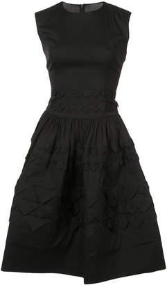 Oscar de la Renta sleeveless triangle mini dress