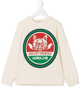 Gucci Kids Guccify Yourself sweatshirt