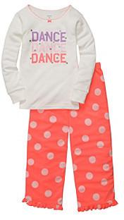 Carter's Girls' 4-14 White/Orange 2-pc. Dance Pajama Set