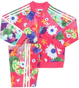 adidas Floral Techno Track Jacket & Track Pants