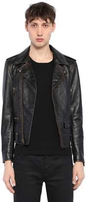 Saint Laurent Lightening Vintage Leather Biker Jacket