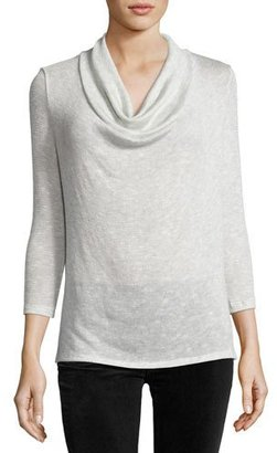 Soft Joie Estee Cowl-Neck 3/4-Sleeve Sweater, Gray $128 thestylecure.com