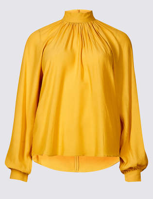Limited Edition Funnel Neck Long Sleeve Blouse