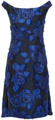 Lela Rose Off-The-Shoulder Layered Fil Coupé Dress