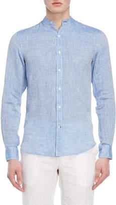 Ganesh Linen Mandarin Collar Shirt