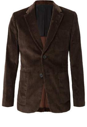 Ami Brown Cotton-Corduroy Blazer - Brown