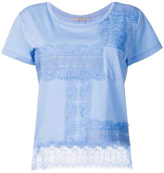 Ermanno Scervino lace trim T-shirt