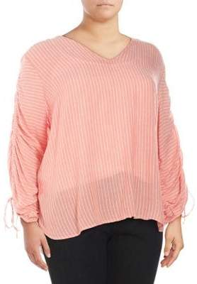 Jessica Simpson Plus Miller Striped Blouse