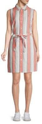 Tommy Hilfiger Sleeveless Stripe Shirt Dress