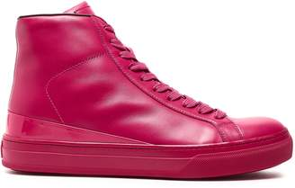 Tod's Patent-trimmed Leather High-top Sneakers