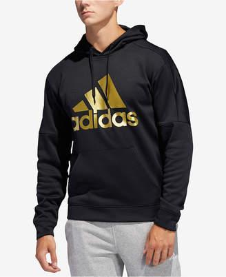 adidas Men Metallic-Logo Hoodie