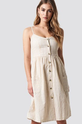 MANGO Salvia Dress Ecru
