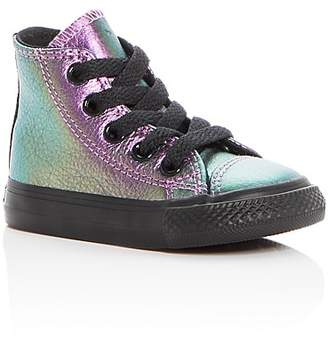 Converse Girls' Chuck Taylor All Star Leather High Top Sneakers - Baby, Walker, Toddler
