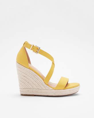 Express Crisscross Espadrille Wedge Sandals