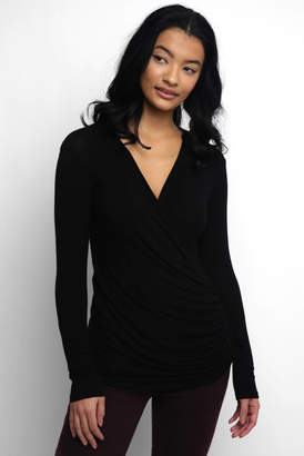 Abbeline Hacci Surplice Rouched Top