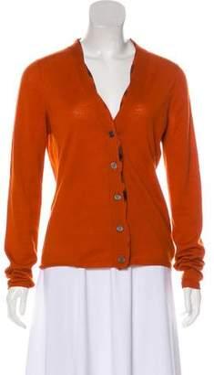 Burberry Knit V-Neck Cardigan