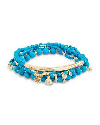 Kendra Scott Supak Beaded Bracelet Set in Turquoise