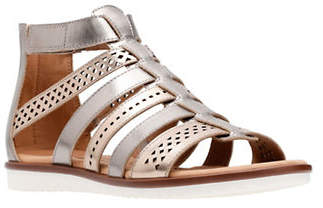 Clarks Kele Lotus Leather Caged Sandals
