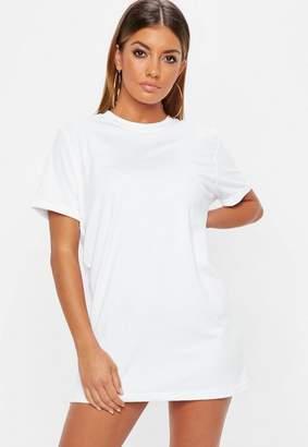 Missguided Petite White Plain T Shirt Dress